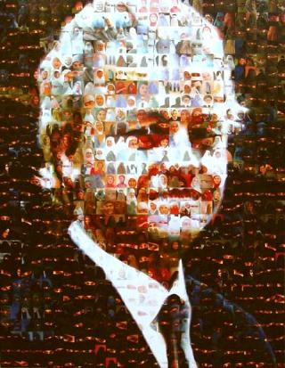 The Prophet-Portrait Geert Wilders with Muslims by Gerard Boersma